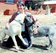 Judith with Muffin and Tyson