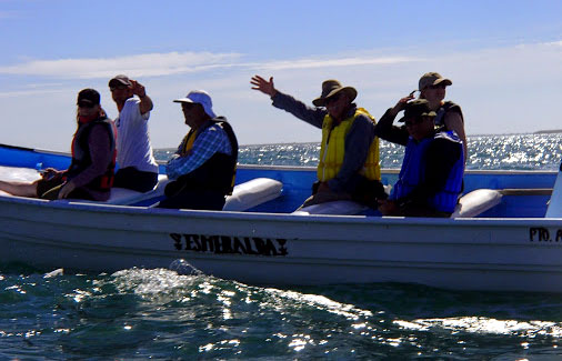 In our panga, off to see the whales Image courtesy ROW Sea Kayaking Adventures