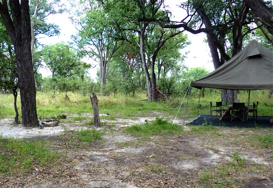 A typical campsite |Photo Copyright © Judith Shaw