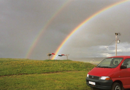An Icelandic double rainbow